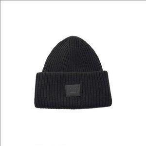 Acne Studios Black Winter Knit Hat
